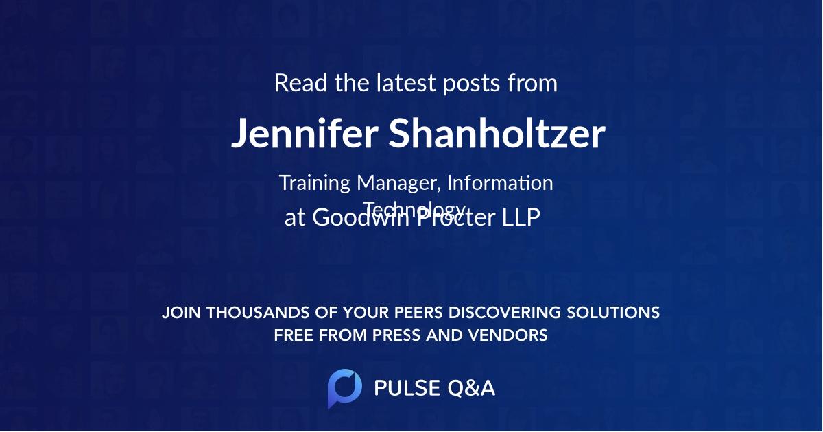 Jennifer Shanholtzer