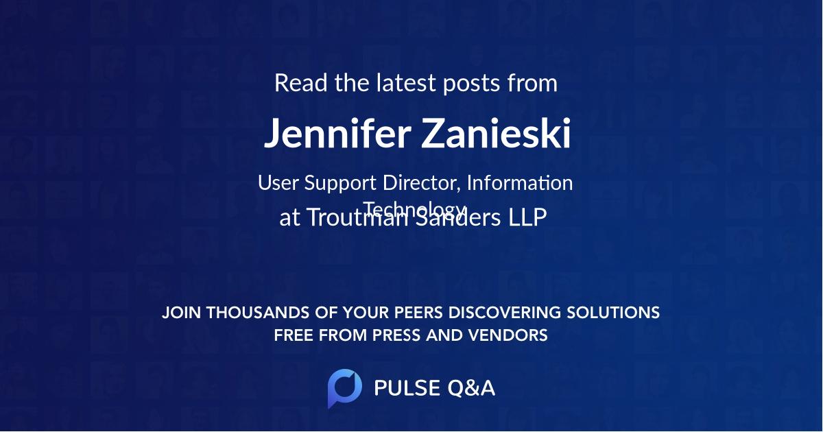 Jennifer Zanieski