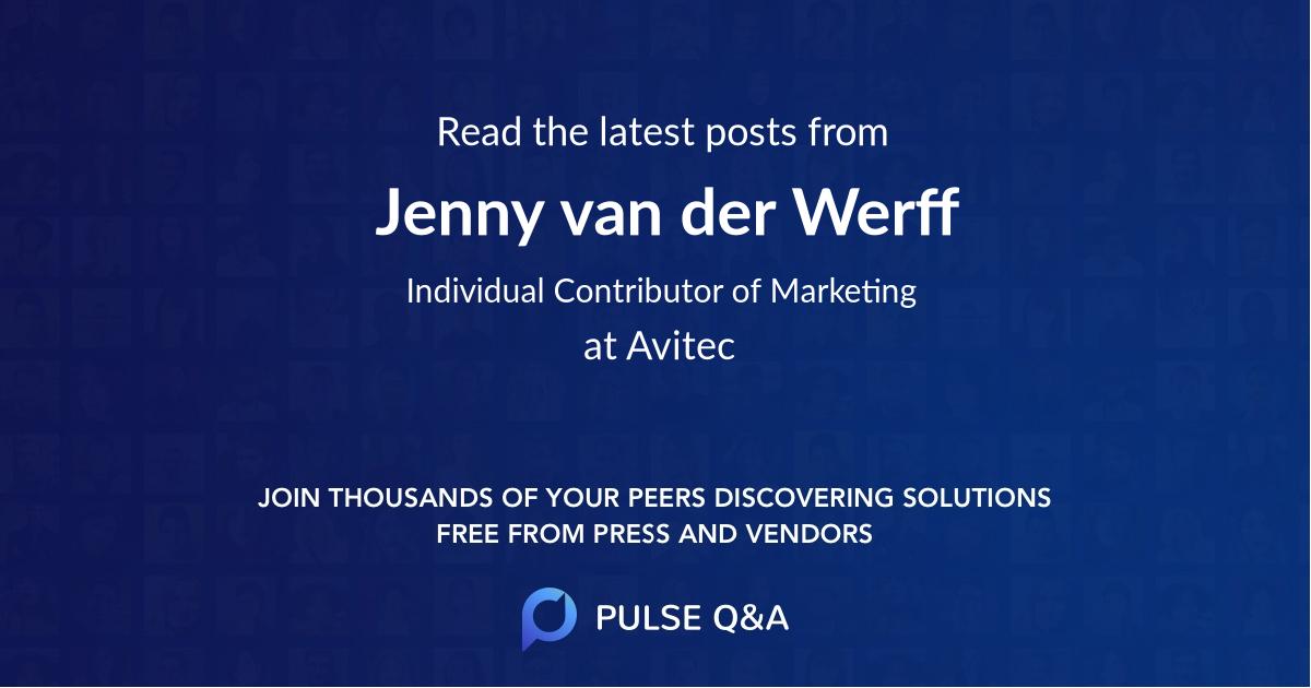Jenny van der Werff
