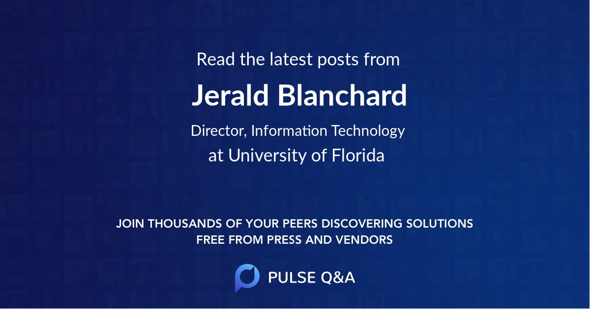 Jerald Blanchard