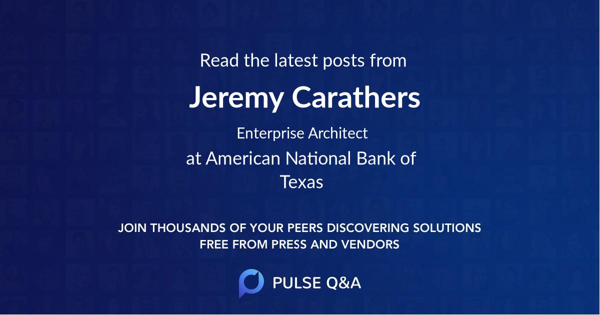 Jeremy Carathers