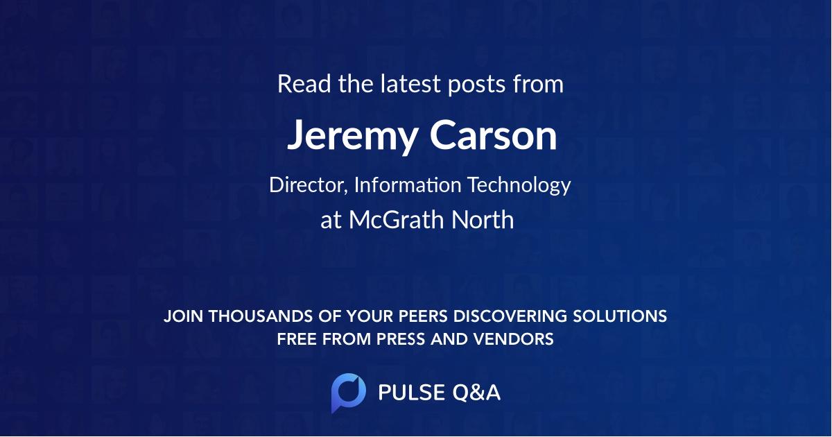 Jeremy Carson
