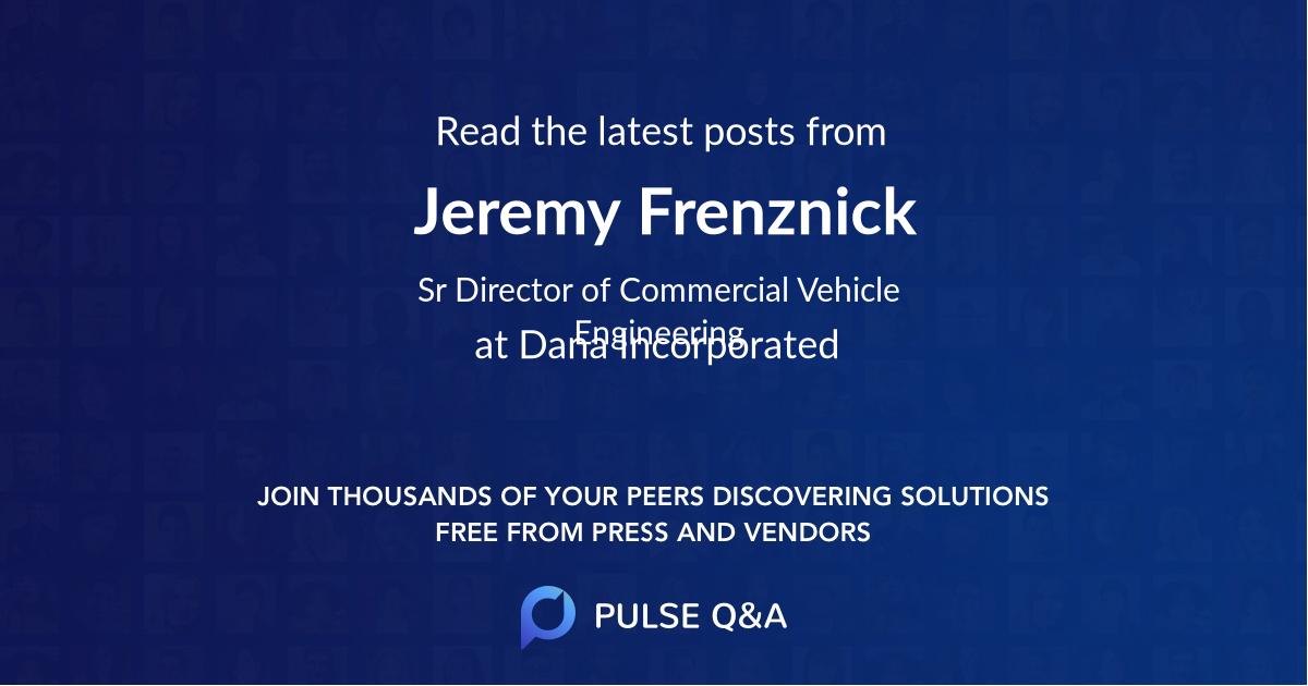 Jeremy Frenznick
