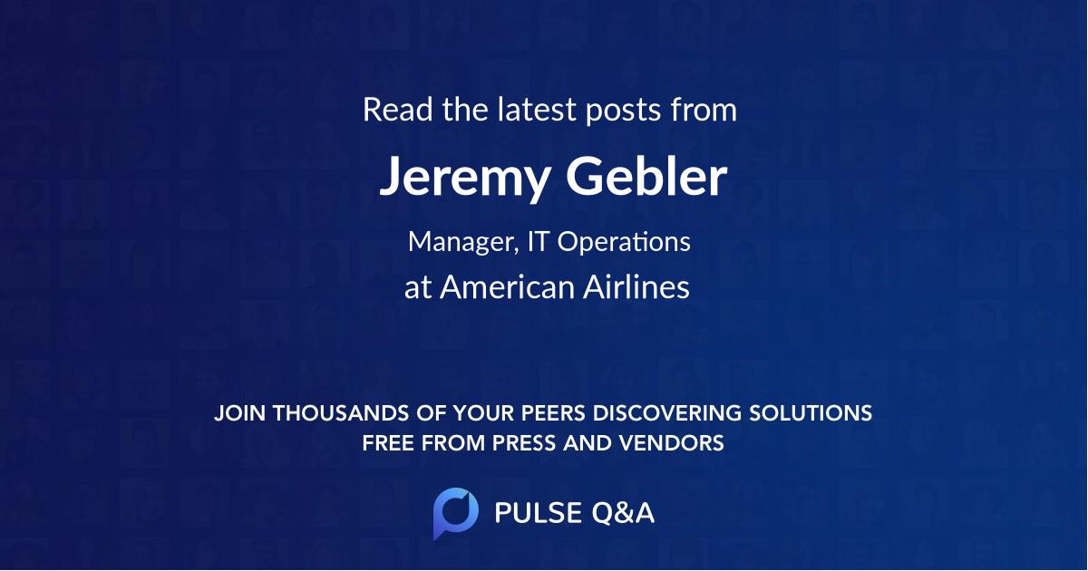 Jeremy Gebler