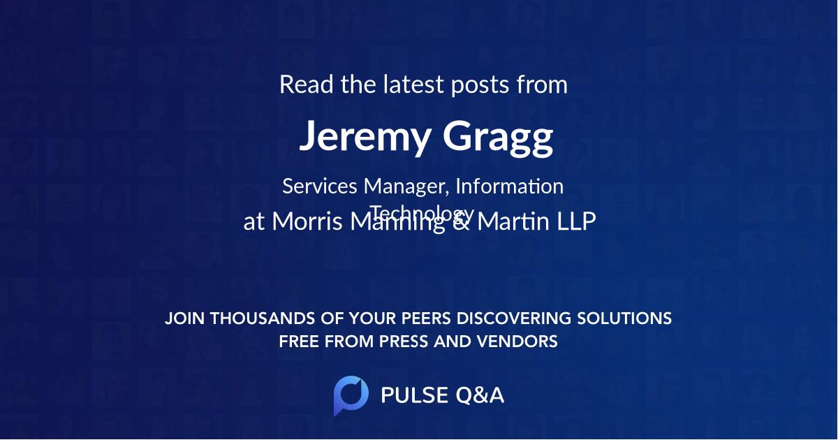 Jeremy Gragg