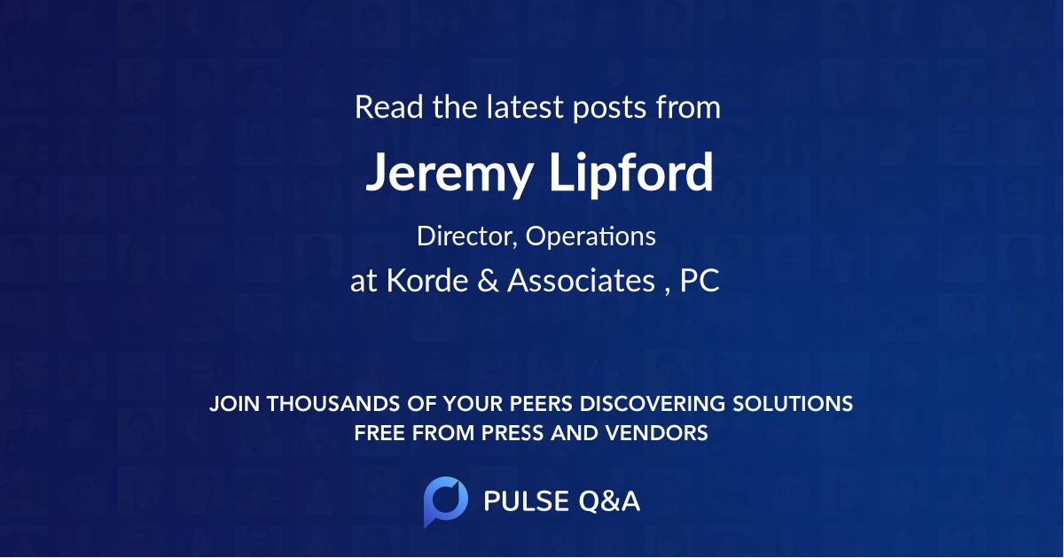 Jeremy Lipford
