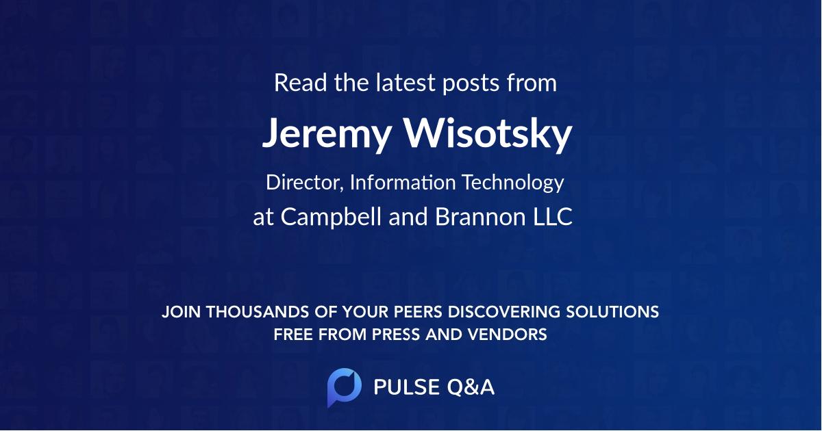 Jeremy Wisotsky