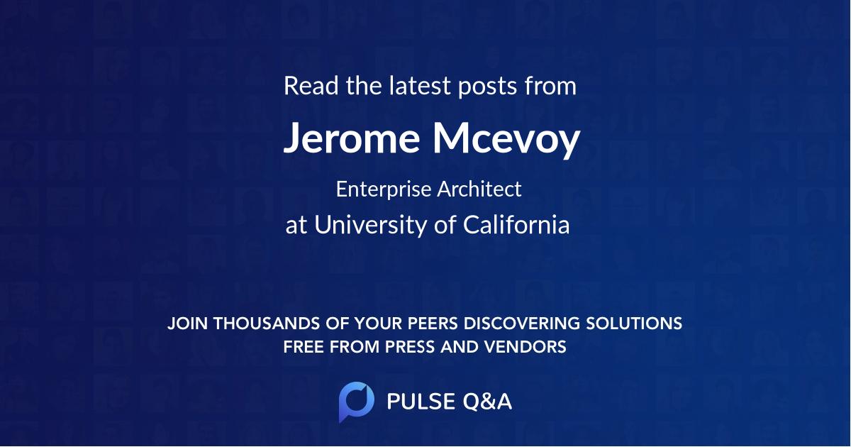 Jerome Mcevoy