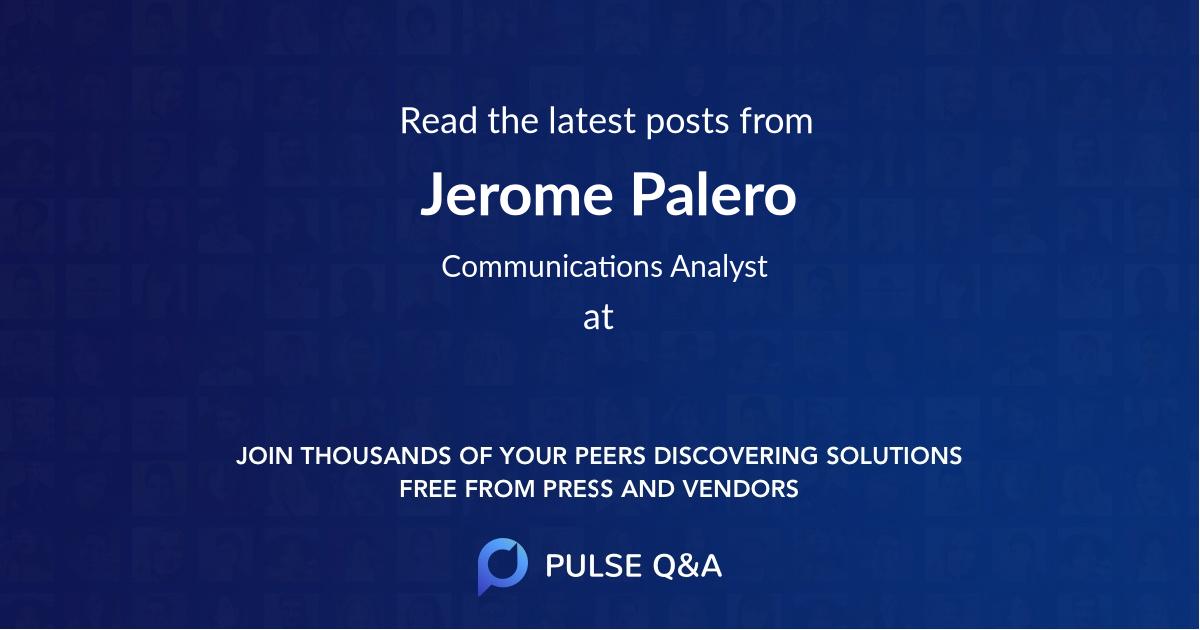 Jerome Palero