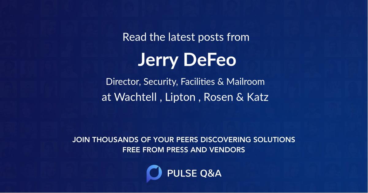 Jerry DeFeo