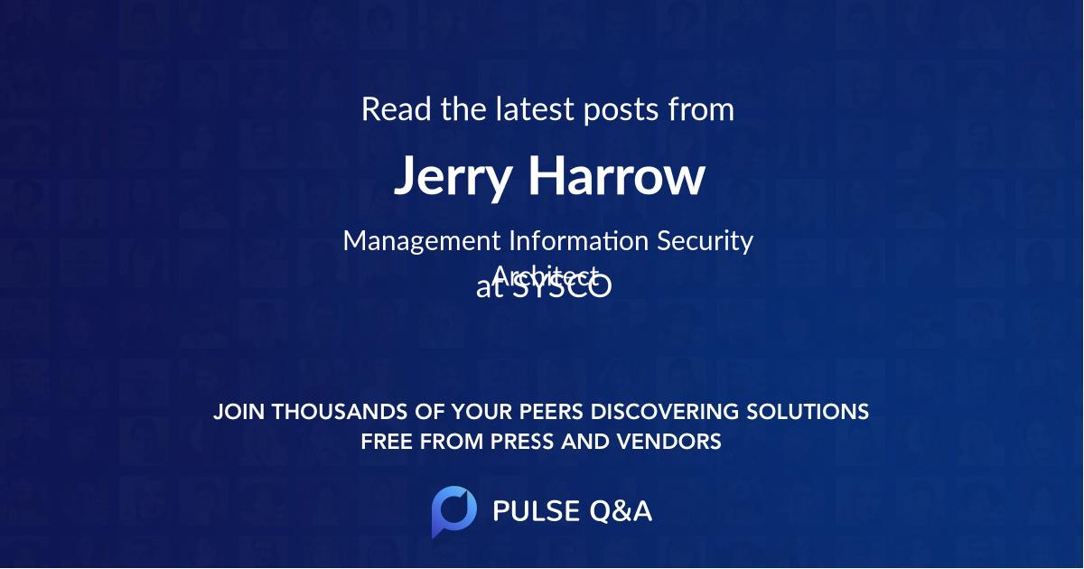 Jerry Harrow