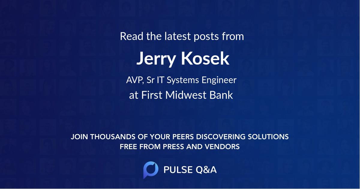 Jerry Kosek