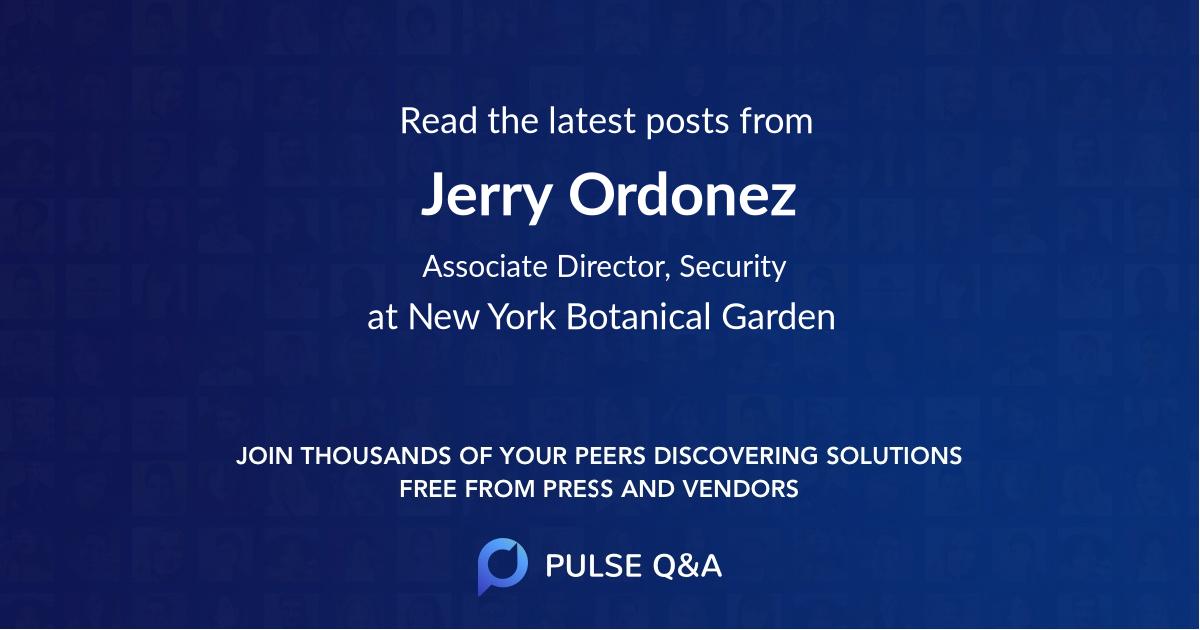 Jerry Ordonez