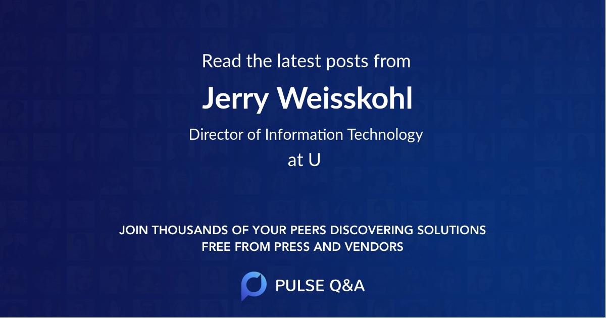 Jerry Weisskohl