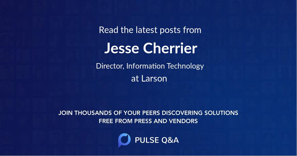 Jesse Cherrier