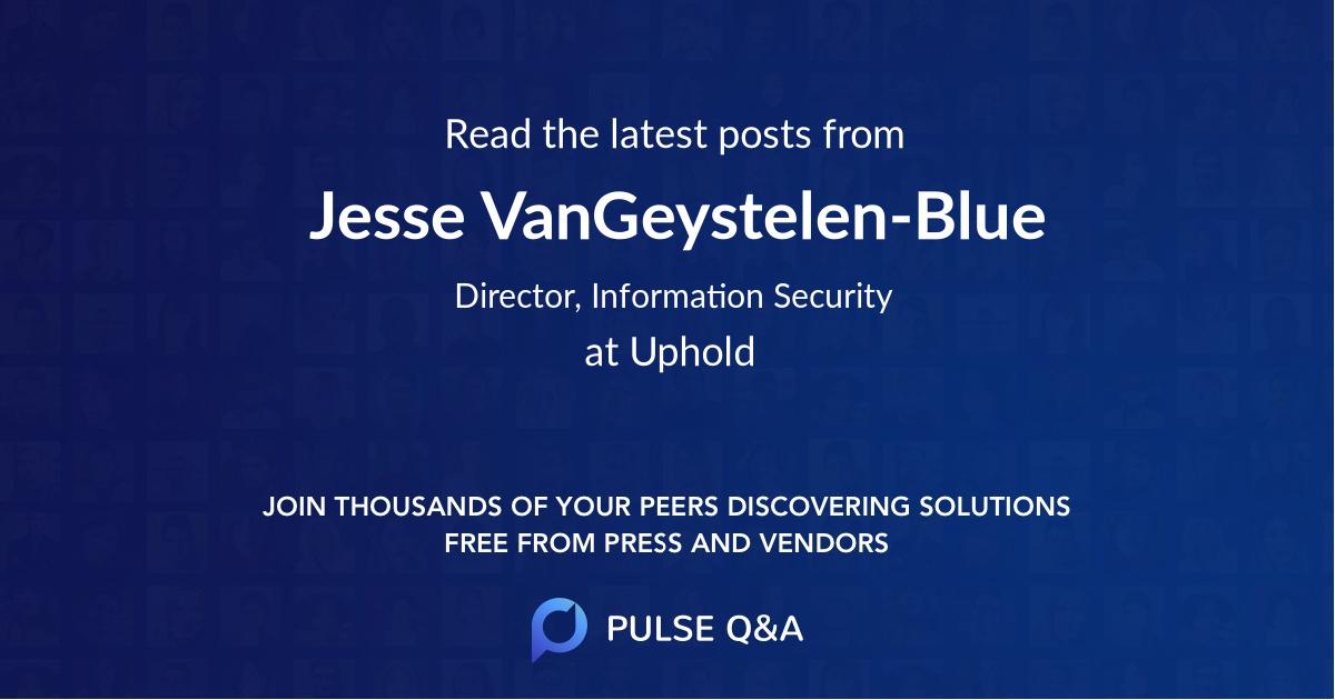 Jesse VanGeystelen-Blue
