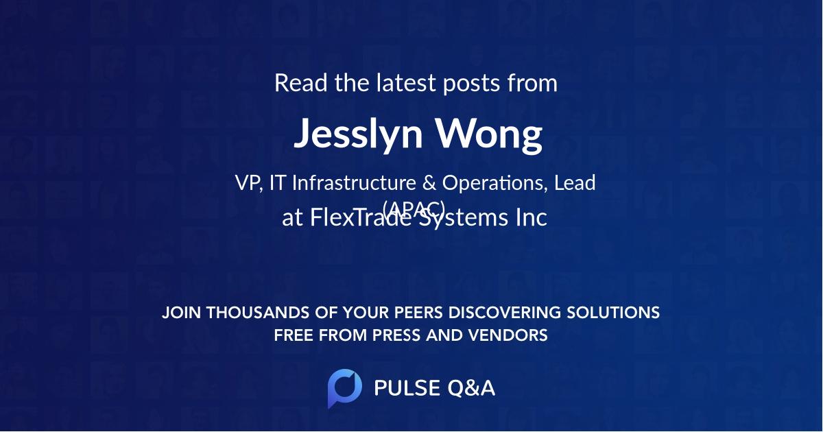 Jesslyn Wong
