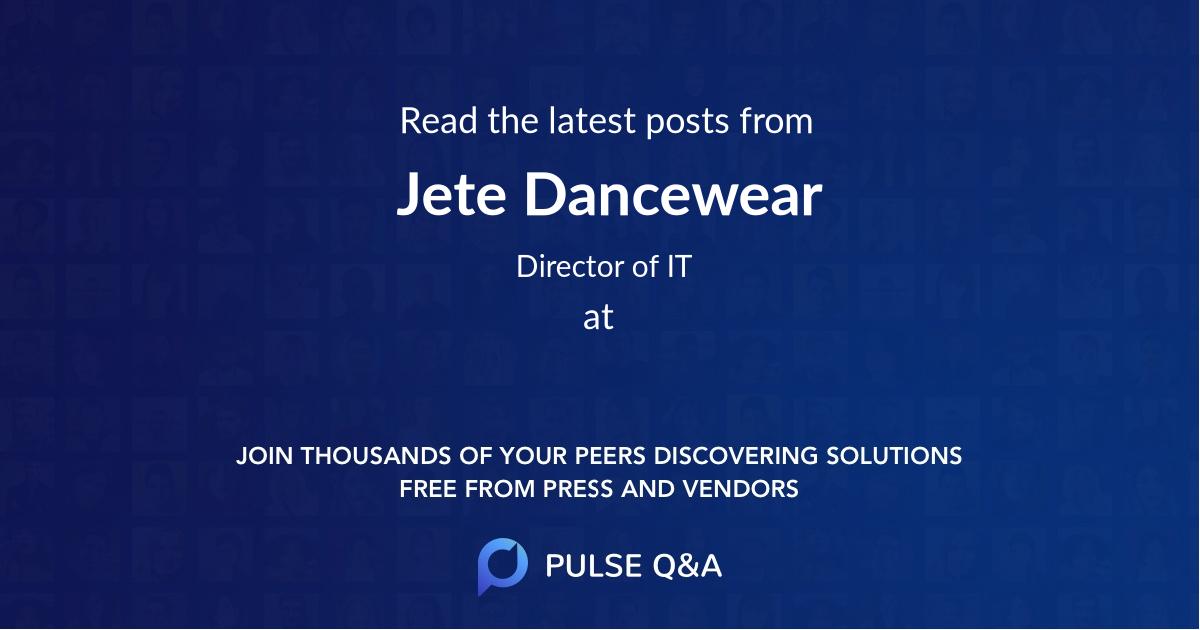 Jete Dancewear