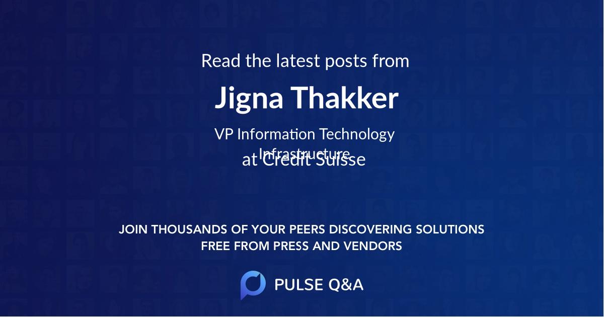 Jigna Thakker