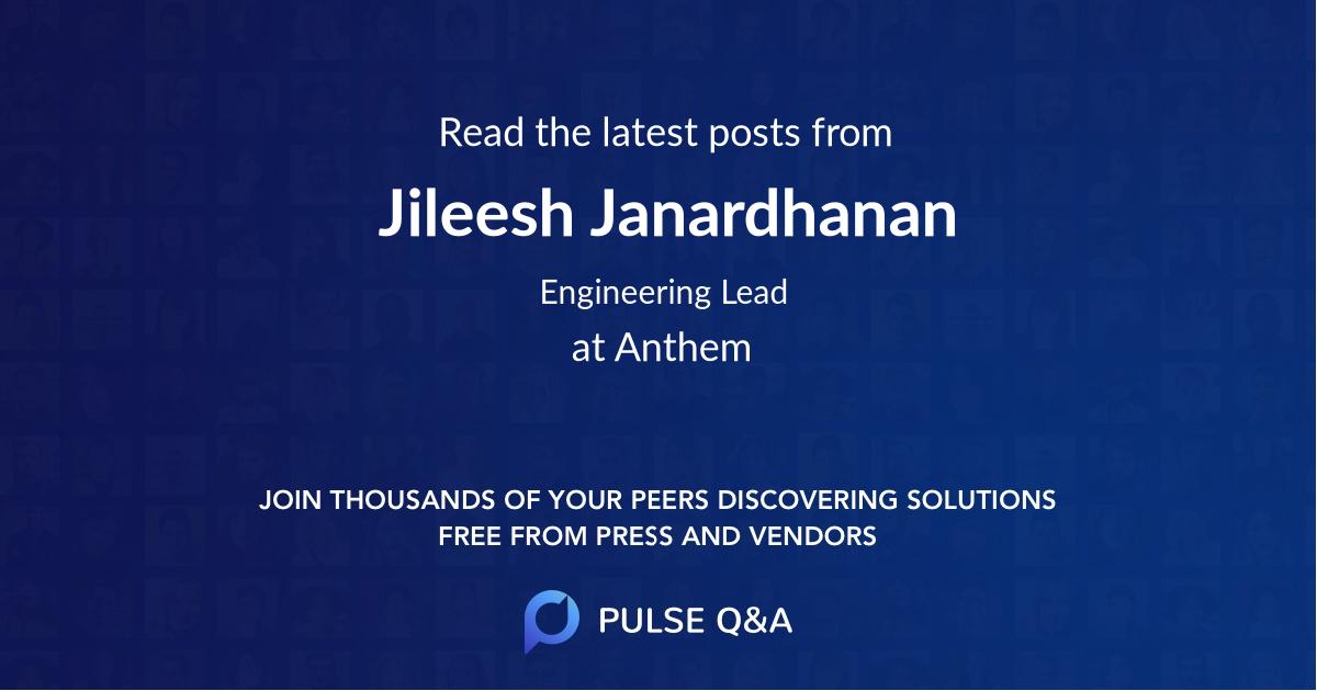 Jileesh Janardhanan