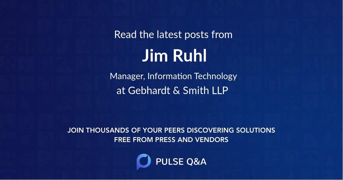 Jim Ruhl