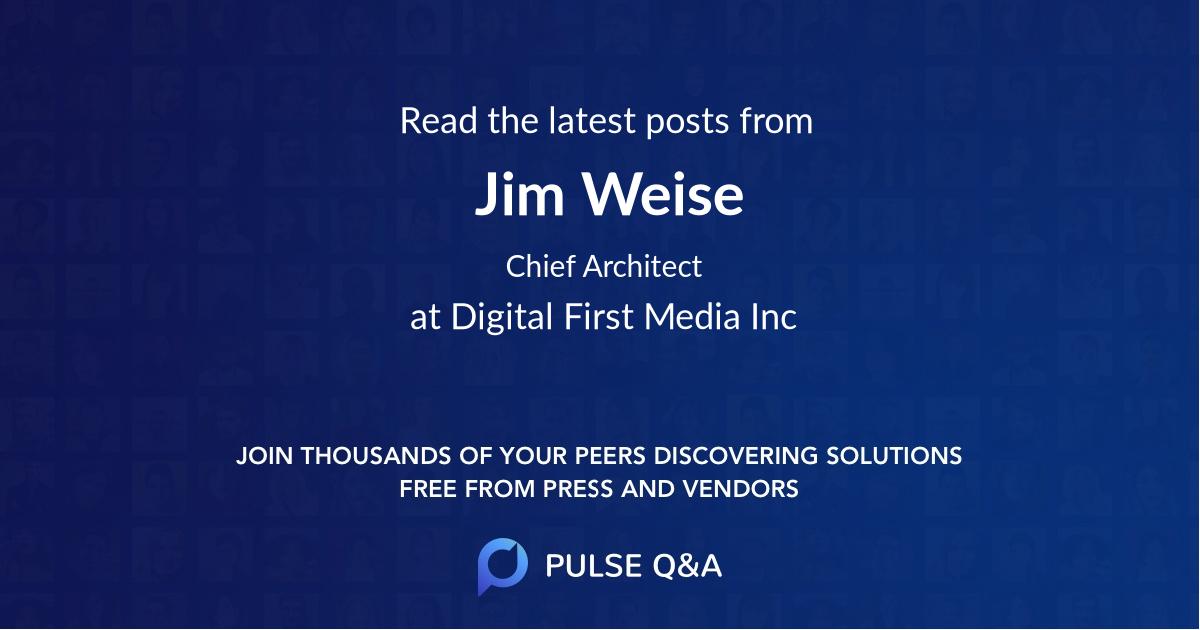 Jim Weise