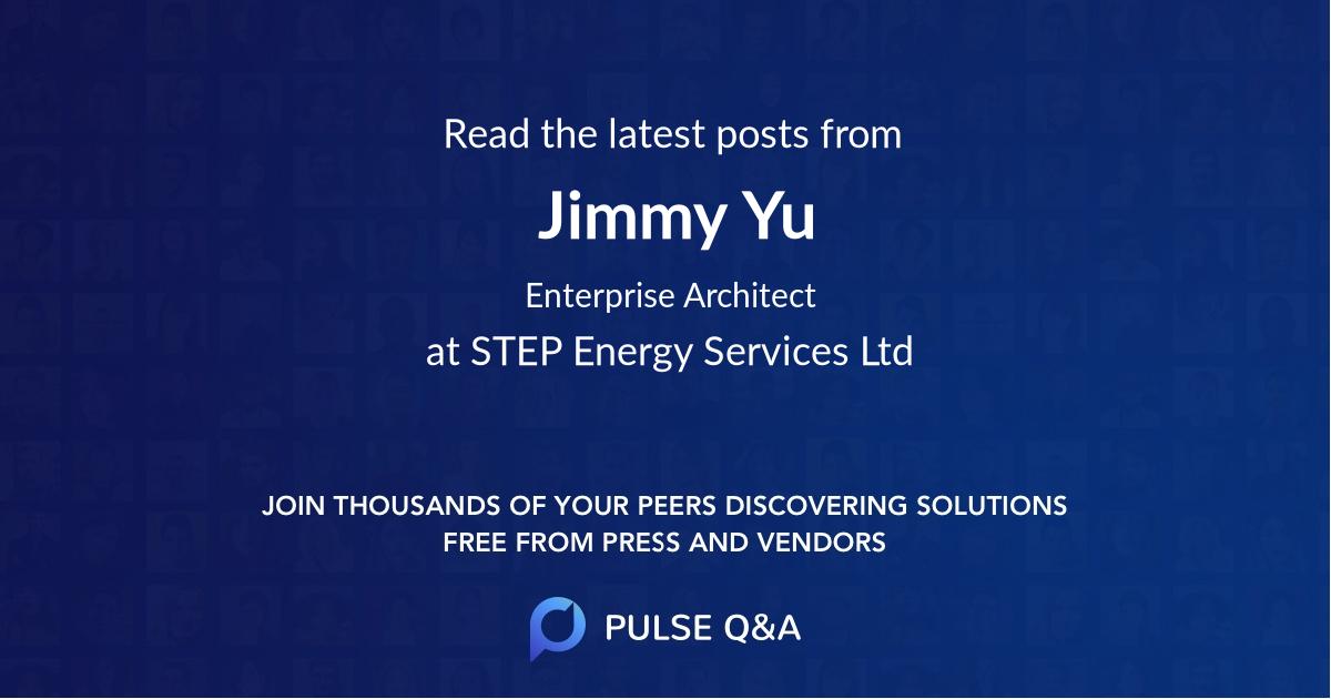 Jimmy Yu