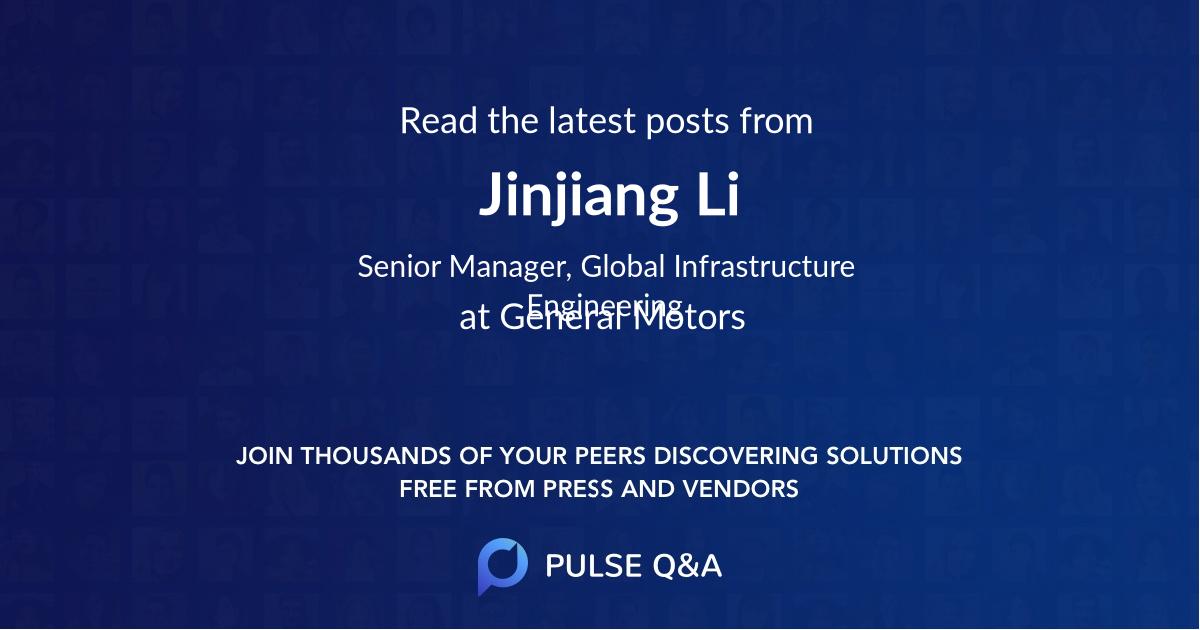 Jinjiang Li
