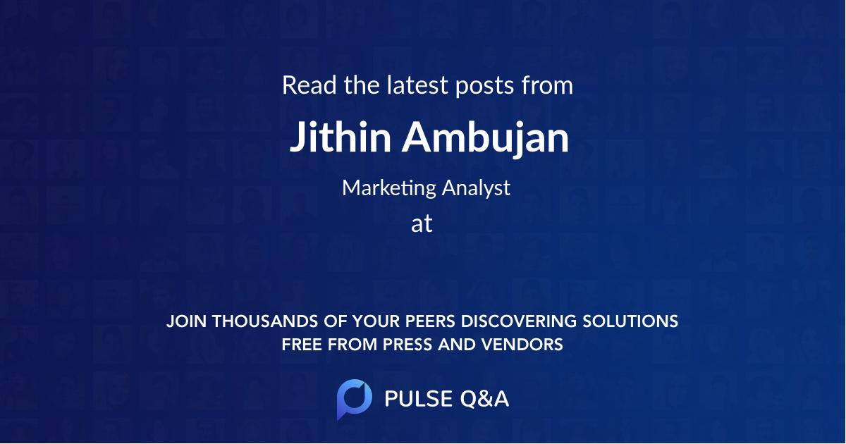 Jithin Ambujan