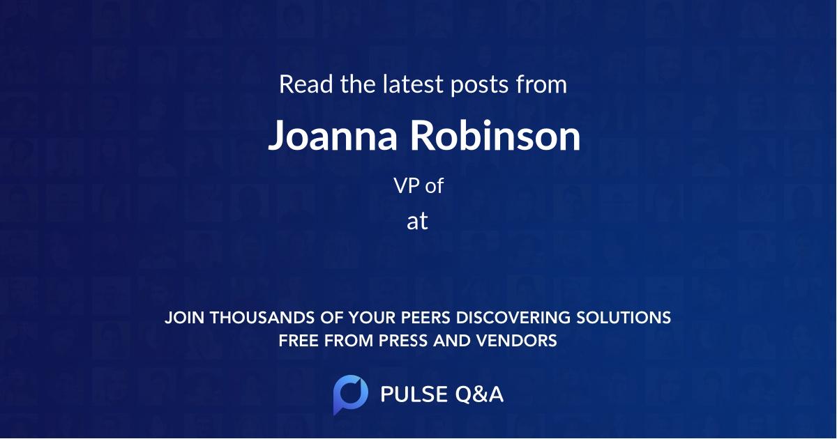 Joanna Robinson