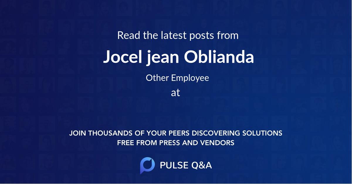 Jocel jean Oblianda