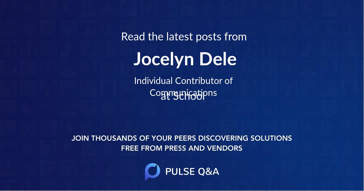 Jocelyn Dele