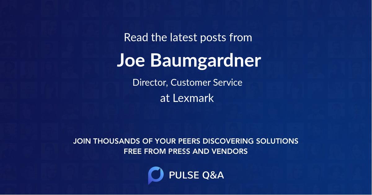 Joe Baumgardner
