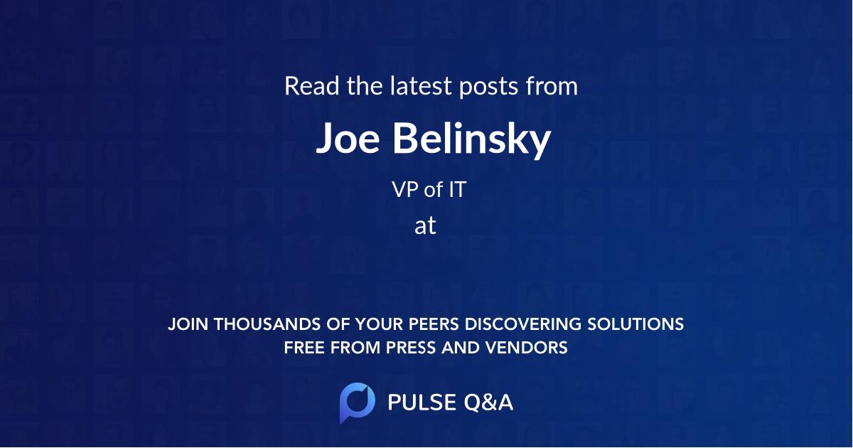 Joe Belinsky