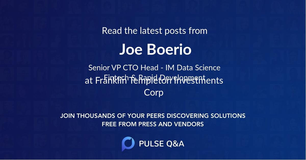Joe Boerio