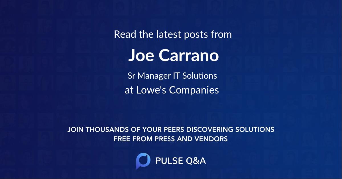 Joe Carrano