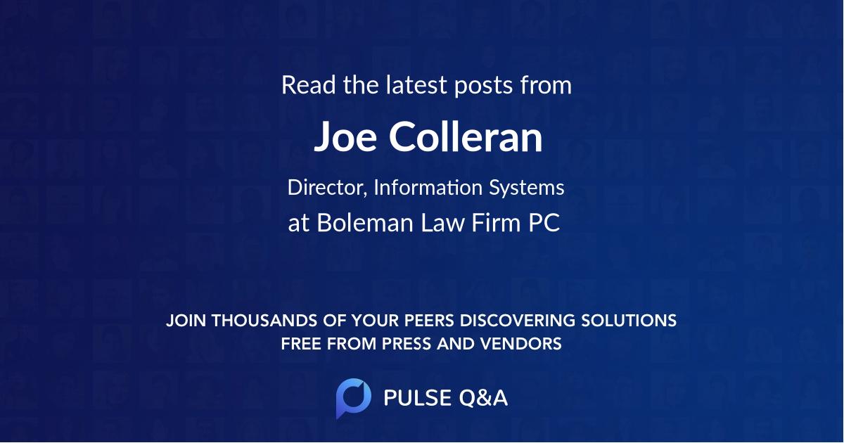 Joe Colleran