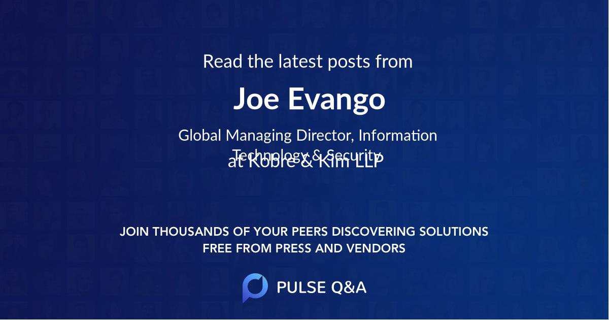 Joe Evango