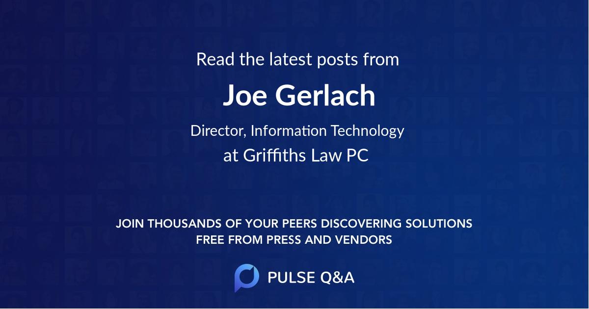 Joe Gerlach