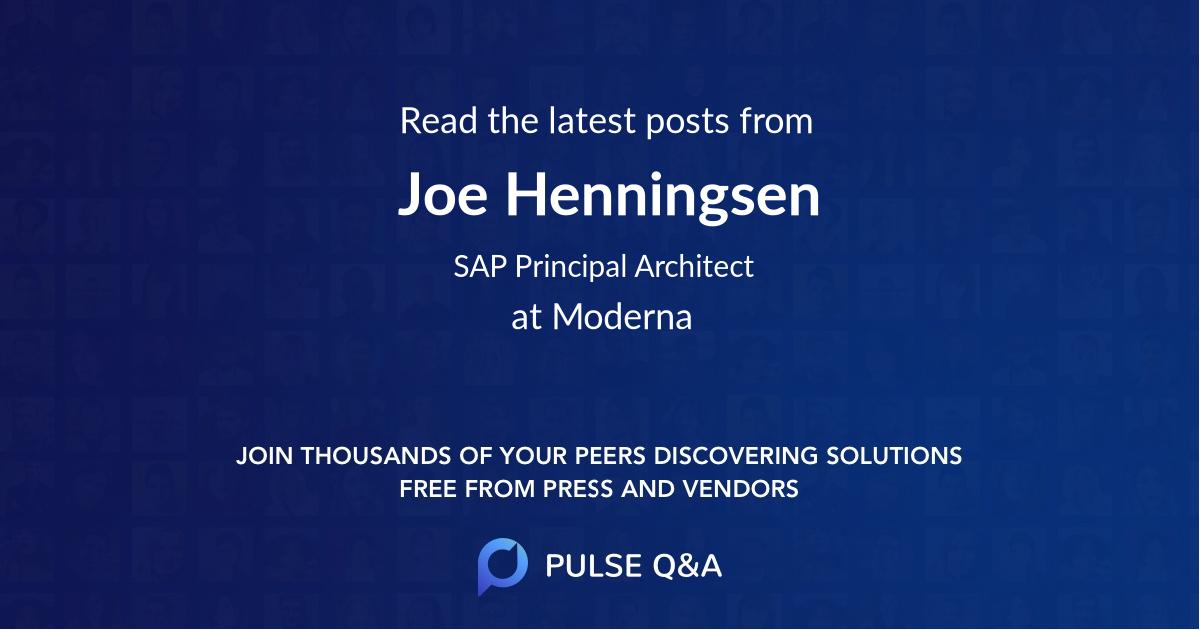 Joe Henningsen