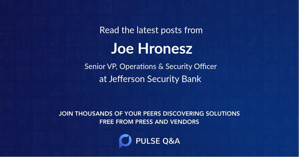 Joe Hronesz