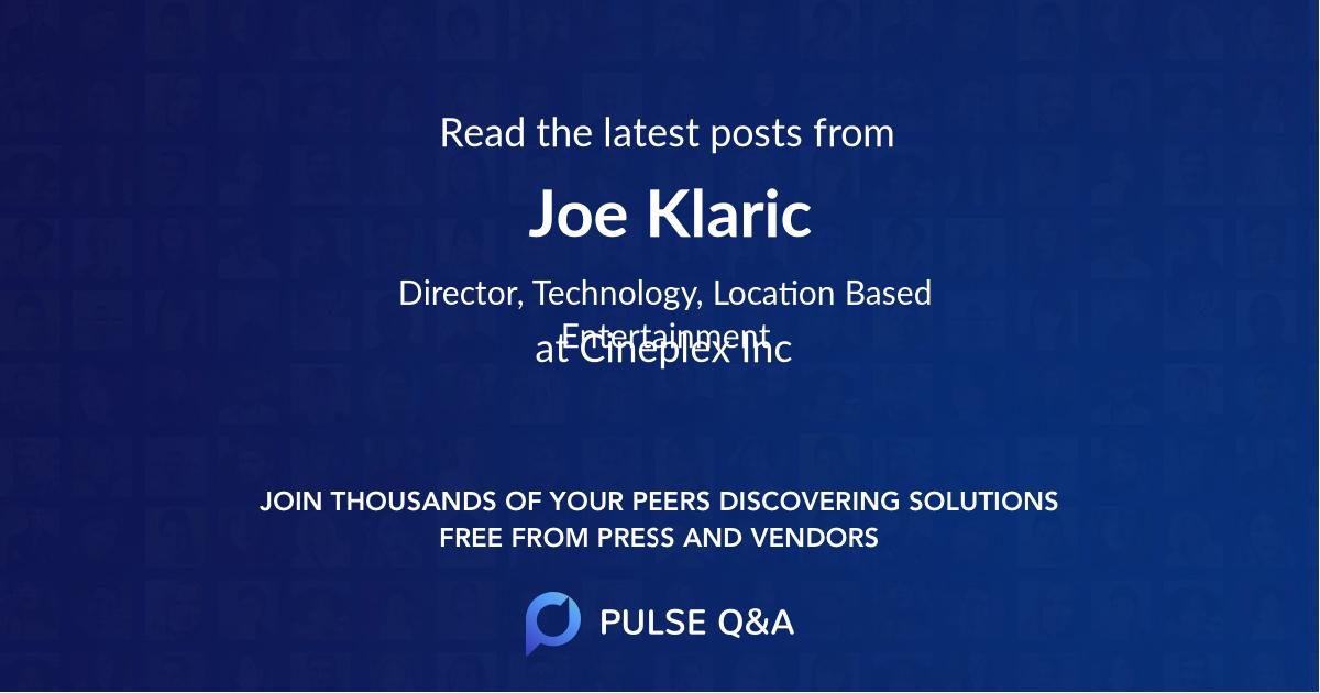 Joe Klaric