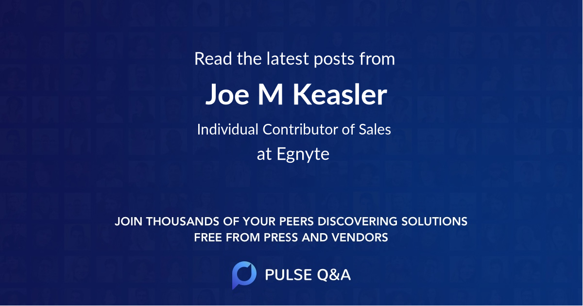 Joe M. Keasler