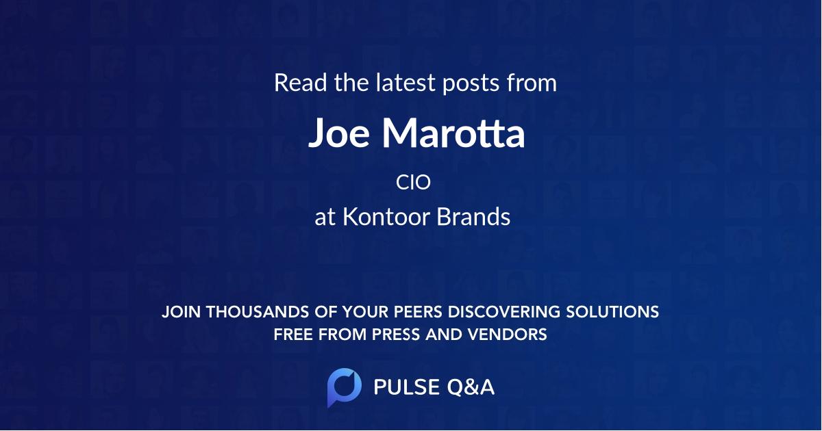 Joe Marotta