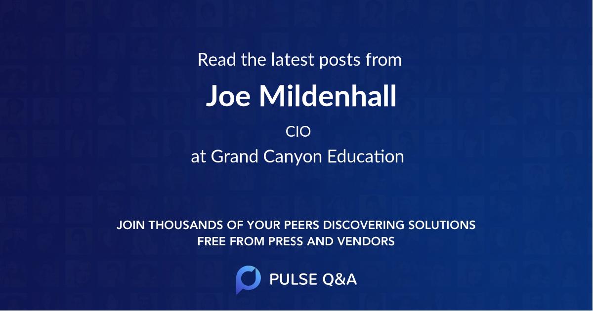 Joe Mildenhall