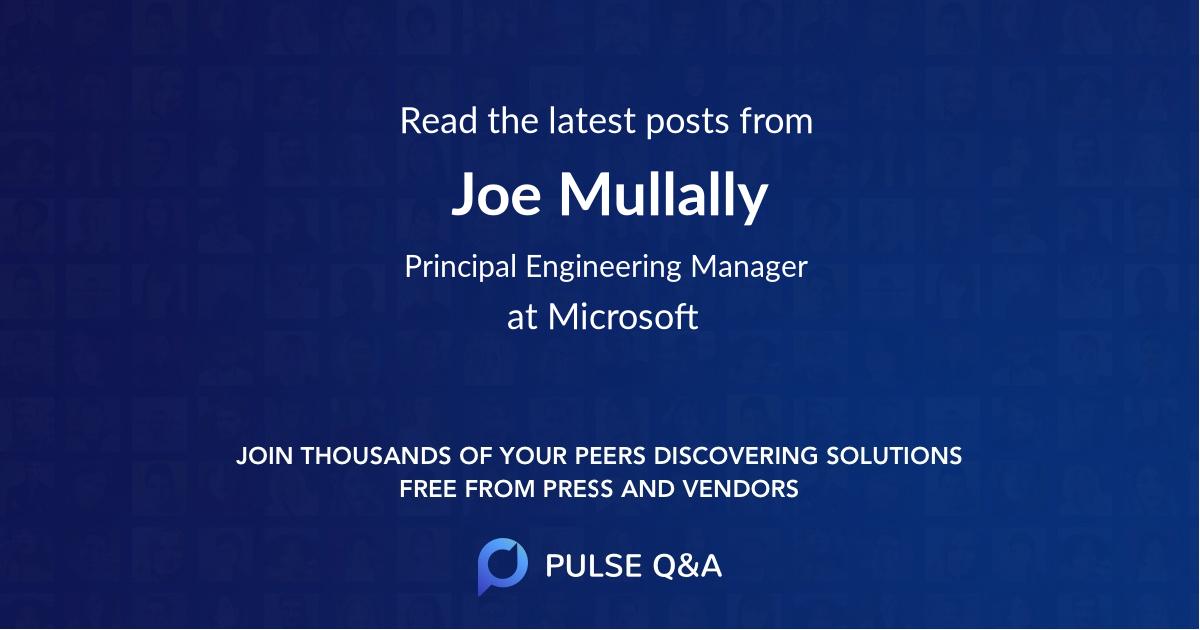 Joe Mullally