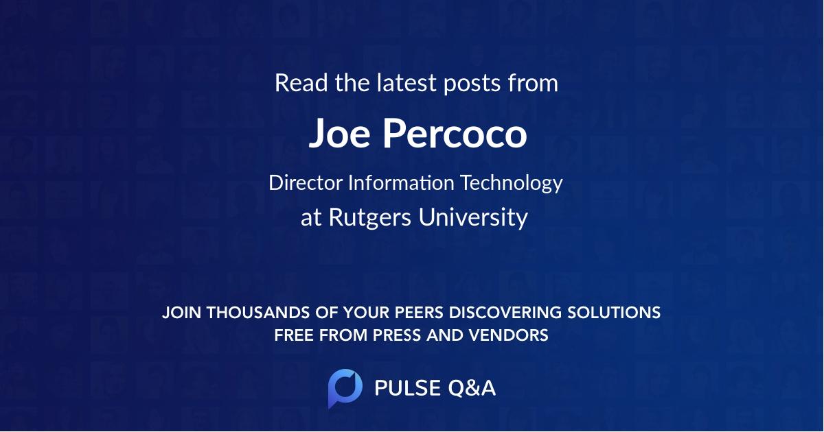 Joe Percoco