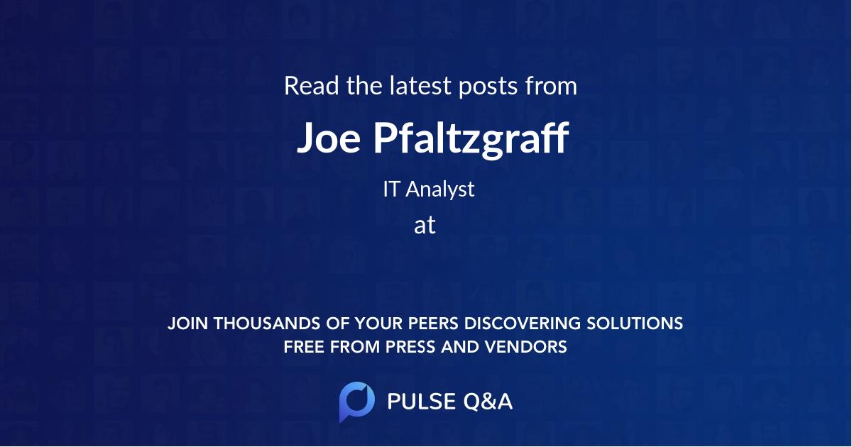 Joe Pfaltzgraff