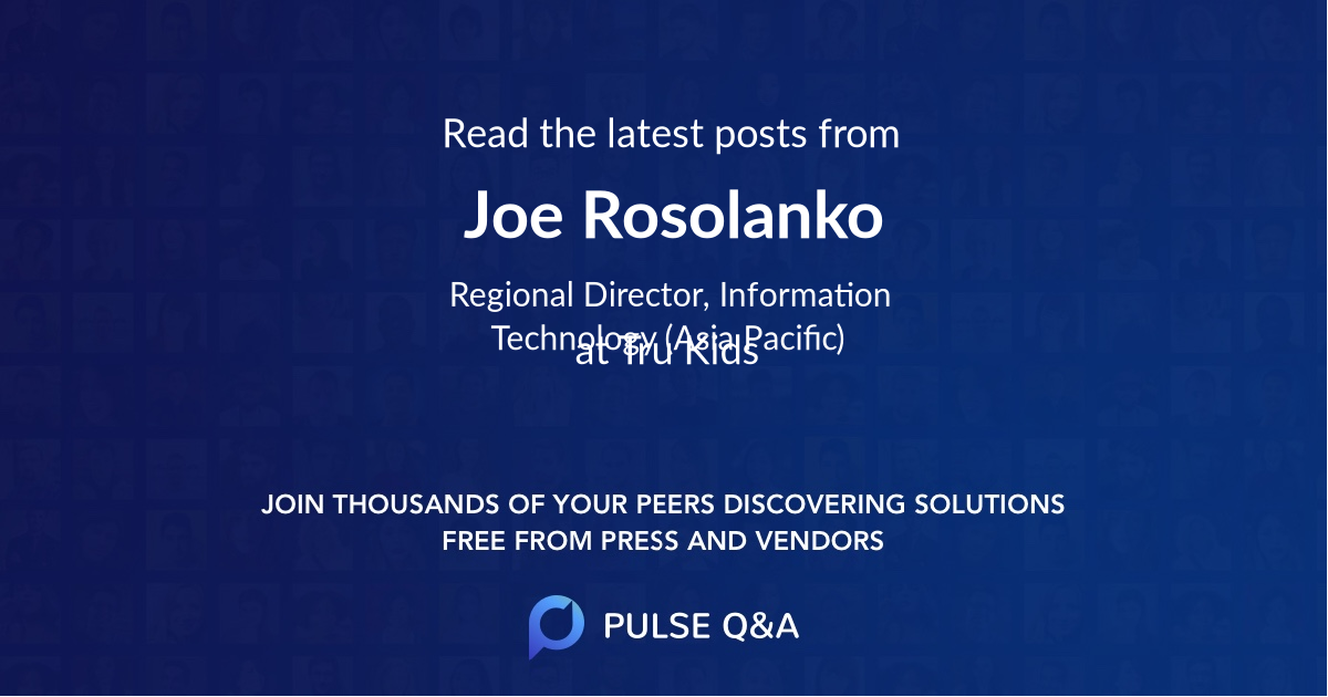 Joe Rosolanko