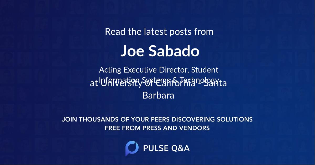 Joe Sabado